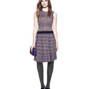 Tory Burch | Purple & Tan Sweater Dress